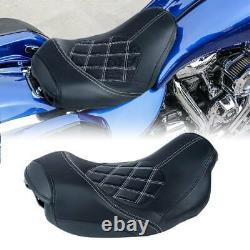 Front Driver Pillion Seat Fit For Harley Touring Street Glide Road King 09-21