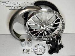 Harley 26 Inch Front Wheel Tire Kit Street Glide Electra Road King 08-13 Hustler