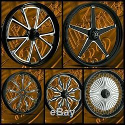 Harley 26 inch big wheel rake kit street glide road king ultra classic