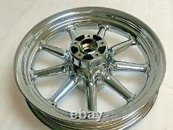Harley Chrome Street Glide Road King 9 Spoke Front Wheel 00-08 Exchange