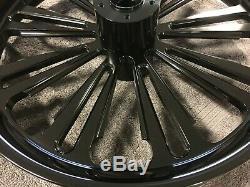 Harley Davidson Black Anodized Wheel Set Street Glide Road Glide Road King Flht