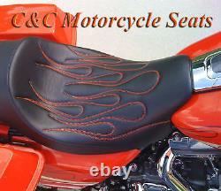 Harley-Davidson with Backrest, Road King, Ultra, Street Glide, FLHX, C&C Seats