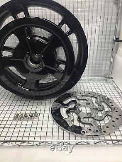 Harley Enforcer Wheels Glass Black 2014 -19 Road King Street Glide (exchange)