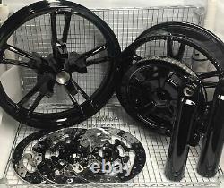 Harley Enforcer Wheels Gloss Black 2014-19 Road King Street Glide (exchange)