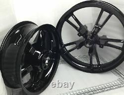 Harley Enforcer Wheels Gloss Black Road King Street Glide #2 (EXCHANGE)