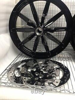 Harley Impeller Wheels Gloss Black 2014 -19 Road King Street Glide (exchange)