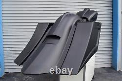 Harley bagger streched bags & fender street glide road king ultra classic 09-13