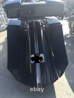 Harley custom stretched bags and fender street glide road king ultra classic