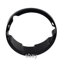 Hd Black Raked Headlight Bezel For Street Glide Electra Road King