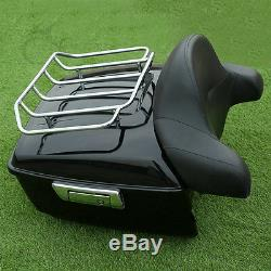 King Pack Trunk Rack Fit For Harley Tour Pak Touring Street Road Glide 14-20