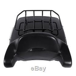 King Tour Pak Pack Trunk +Rack Backrest For Harley Street Road Glide 2014-2020