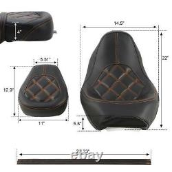 Leather Driver Passenger Seat For Harley Street Glide 09-20 Road King 09-20 18
