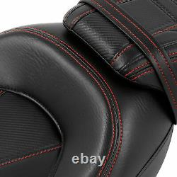 Low-Profile Seat Set Fit For Harley Touring Road King Street Glide 2009-2021 US