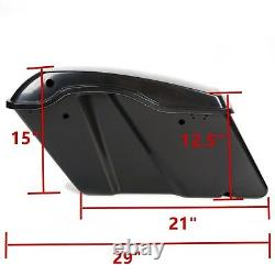 New Black Hard Saddle Bags Trunk For Harley Road King Electra Street Glide 14-UP