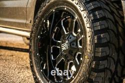 Off Road Black Wheels Rims Tires 33 12.50 20 33/12.50/20 Mt Package F-250 F-350