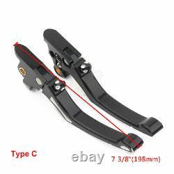 Pair Edge Cut Brake Clutch Lever For Harley Road King Street Glide FLHTK 96-16