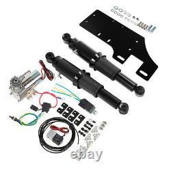 Rear Air Ride Suspension Kit Fit For Harley Electra Street Road Glide King 94-Up