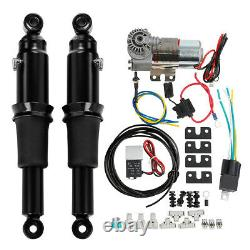 Rear Air Ride Suspension Kit Fit For Harley Touring Road King Street Glide 94-20