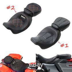 Rider Passenger Seat For Harley Touring Road King CVO Street Glide 2010-2020 US