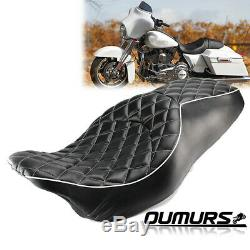 Rider Passenger Two-Up Seat For Harley Street Glide Road King 2008-2015