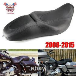Seat 2 Two up Leather For Harley Street Glide Road King CVO FLHR FLHX 08-19 USA