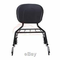 Sissy Bar Backrest Luggage Rack With Pad For Harley Street Glide Road King 2009-20