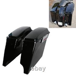 Stretched Extended Hard Saddle Bags For 1993-13 Harley Street Glide Road King
