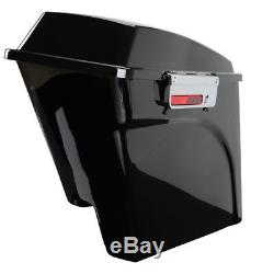 Stretched Extended Hard Saddle Bags For Harley Street Glide Road King 1993-13