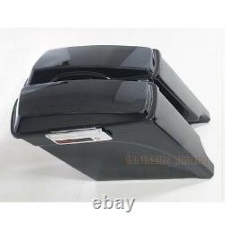 Stretched Extended Hard Saddle Bags For Harley Street Glide Road King 1993-2013