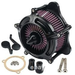 Turbine Air Cleaner Intake Filter For Harley Street Glide FLHX Road King Softail