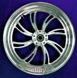 Twisted Vortex Rear Billet Wheel 18 Harley Electra Glide Road King Street 00-07