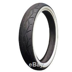 Vee Rubber 26 White Wall Front Tire 120/50-26 Harley Road King Street Glide Cvo