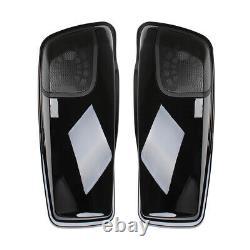 1 Paire Sacoches Couverture Haut-parleur Lids Pour Harley Road King Electra Street Glide