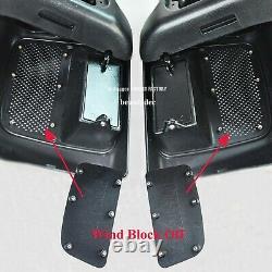 2014 Up Lower Vented Fairing + 8 Inch Speaker Pod 4 Hd Road King Street Glide