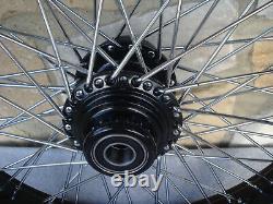 21 X3.5 60 Spoke Roue Avant Noire Harley Road King Street Glide Touring 00-07