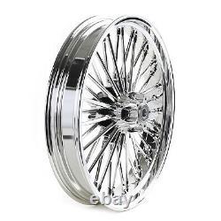 21x3.5 Fat Spoke Front Wheel Abs Pour Harley Bagger Road King Street Glide 09-20