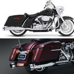 4 Tuyaux D'échappement Silencieux Pour Harley Road King Street Electra Glide Touring 95+