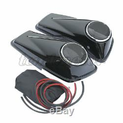 6.5 Saddlebags Président Couvercles Pour Harley Road King, Rue Electra Glide 2014-2020