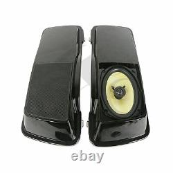 6x 9 Saddlebags Couvercle - Haut-parleur Pour Harley Touring Street Glide Road King 94-13
