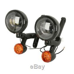 Auxiliaire Clignotants Spot Antibrouillard Support Pour Harley Street Glide Road King