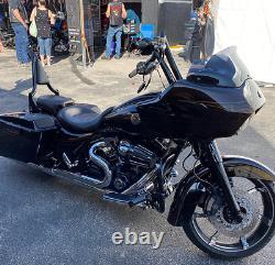 Backrest Sissy Bar Pour Harley Touring Road Street Electra Glide Road King Chrome
