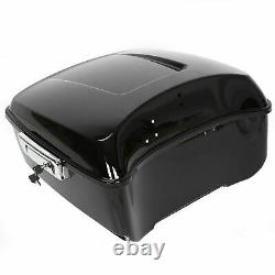 Black King Tour Pack Pak Coffre Pour Harley 2014-2021 Touring Road Street Glide