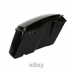 Blk Dur Avec Saddlebags Verrou Pour Harley Road King 14-20 19 Electra Street Glide