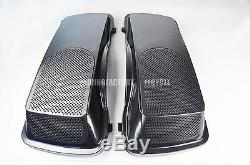 Cvo Style 6x9 Haut-parleurs Couvercles 93-13 Harley Road King Saddlebag Touring Street Glide