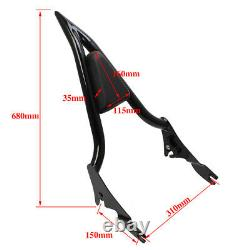 Dossier Amovible Sissy Bar Pour Harley Touring Road King Street Glide 09-20