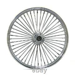 Fat Spoke 26 Big Wheel Front Chrome 08-20 Avec Abs Harley Road King Street Glide