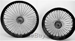Fat Wheels 21 & Spoke 16 Noir Avant / Arrière Harley Electra Road Glide King Street