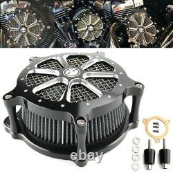 Filtre D'admission Cnc Cut Air Cleaner Pour Harley Touring Road King Street Glide Dyna