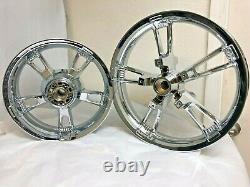 Harley Davidson Street Glide Chrome Enforcer Wheels 14-19 Road King Exchange