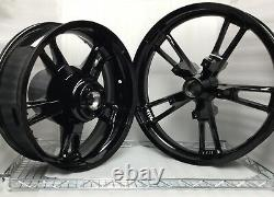 Harley Davison Enforcer Wheels Gloss Black Road King Street Glide #2 (bourse)